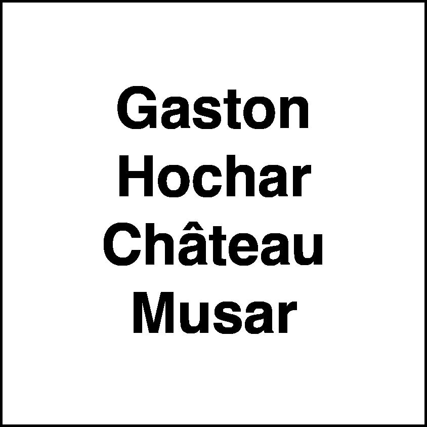 Gaston Hochar Château Musar